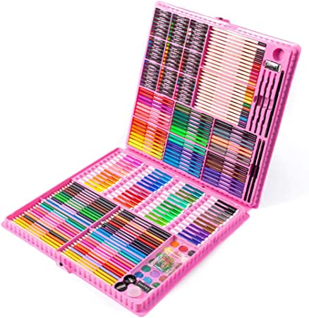 Adecuado para Dibujo Infantil,288 Herramientas de Pintura para niños, Pinceles de Primaria, Plumas de Acuarela @ Rosa,Art Set para niños Dibujo y Pintura: Amazon.es: Hogar