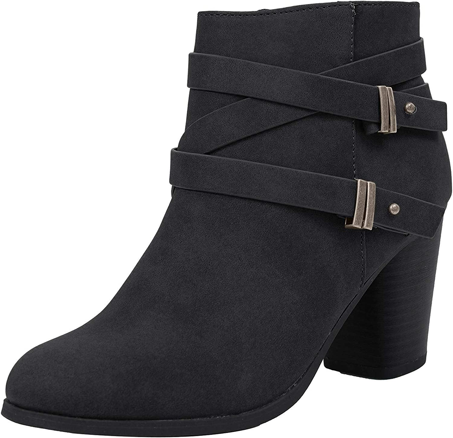 Soda Women's Pointy Toe Ankle Bootie Shoes