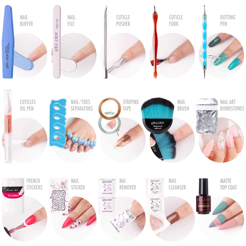 Gellen Gel Nail Polish Starter Kit Popular 4 Colors, with