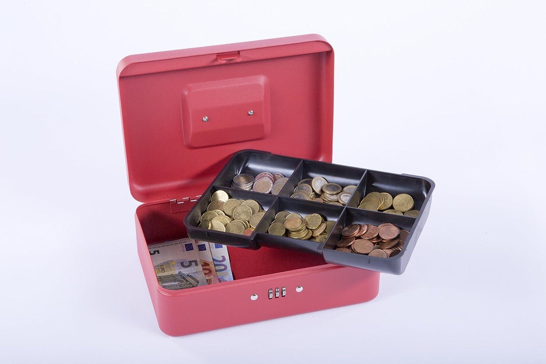 Sax 0-813-13 Geldkassette 30 x 9 x 24 cm rot