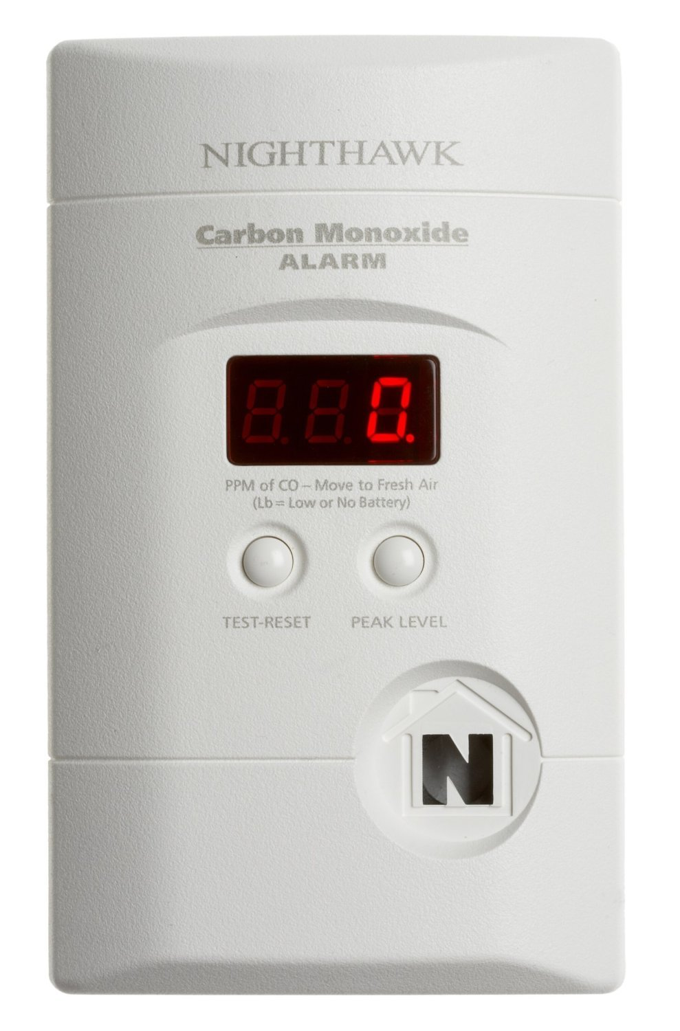 Kidde 4 Pack KN-Copp-3 Nighthawk Plug-in Carbon Monoxide Alarm with Battery Backup and Digital Display