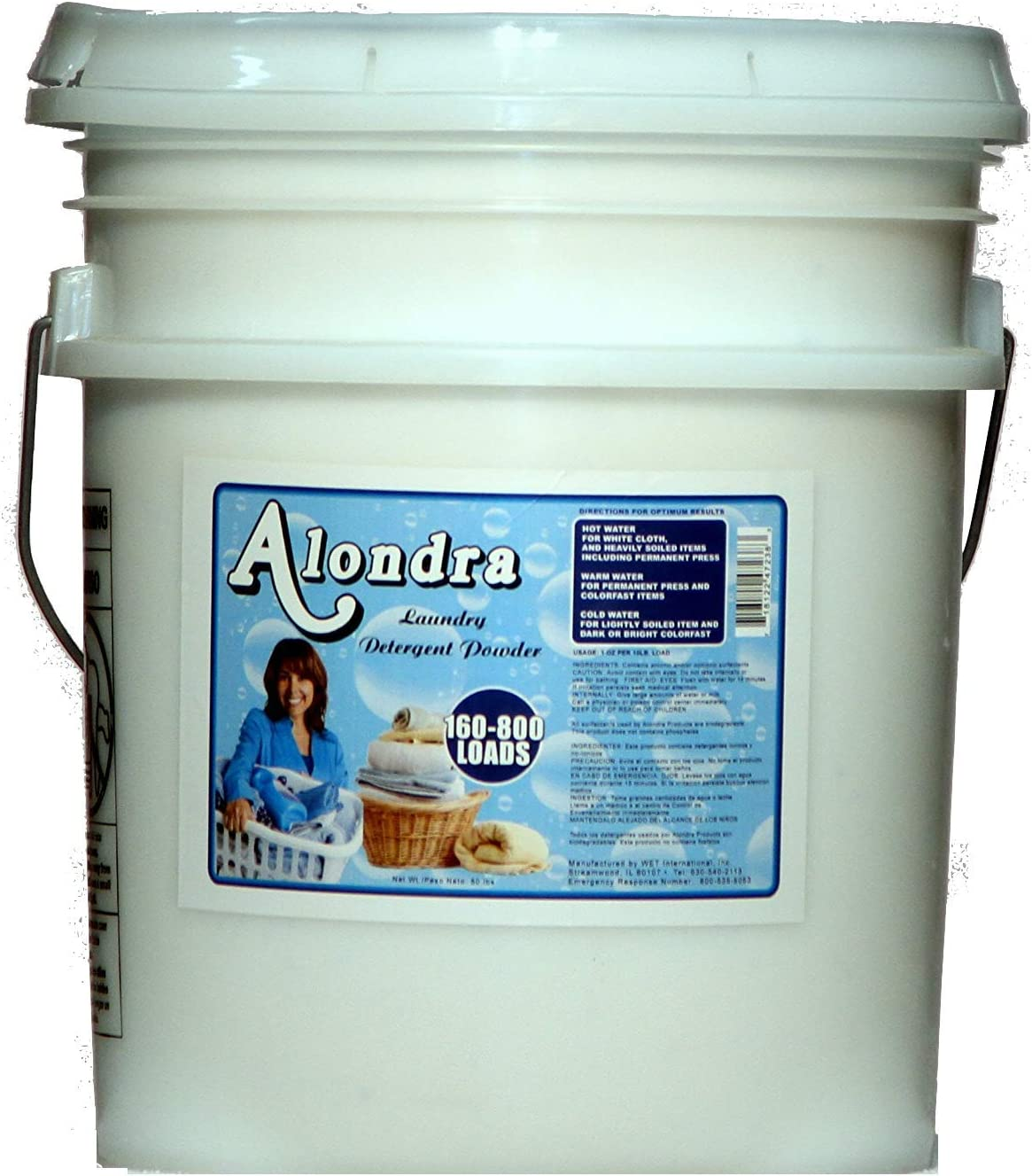 Alondra Mild Fresh Ultra Concentrated HE Powder Laundry Detergent with Oxygen Stain Remover 2.5 lb. Bucket (Approx. 40 Loads)