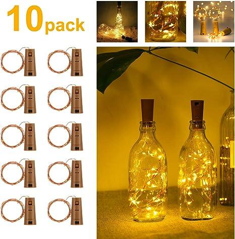 Guirnaldas Luces LED con Corcho 2m 20 LED, Luces de Botella de ...