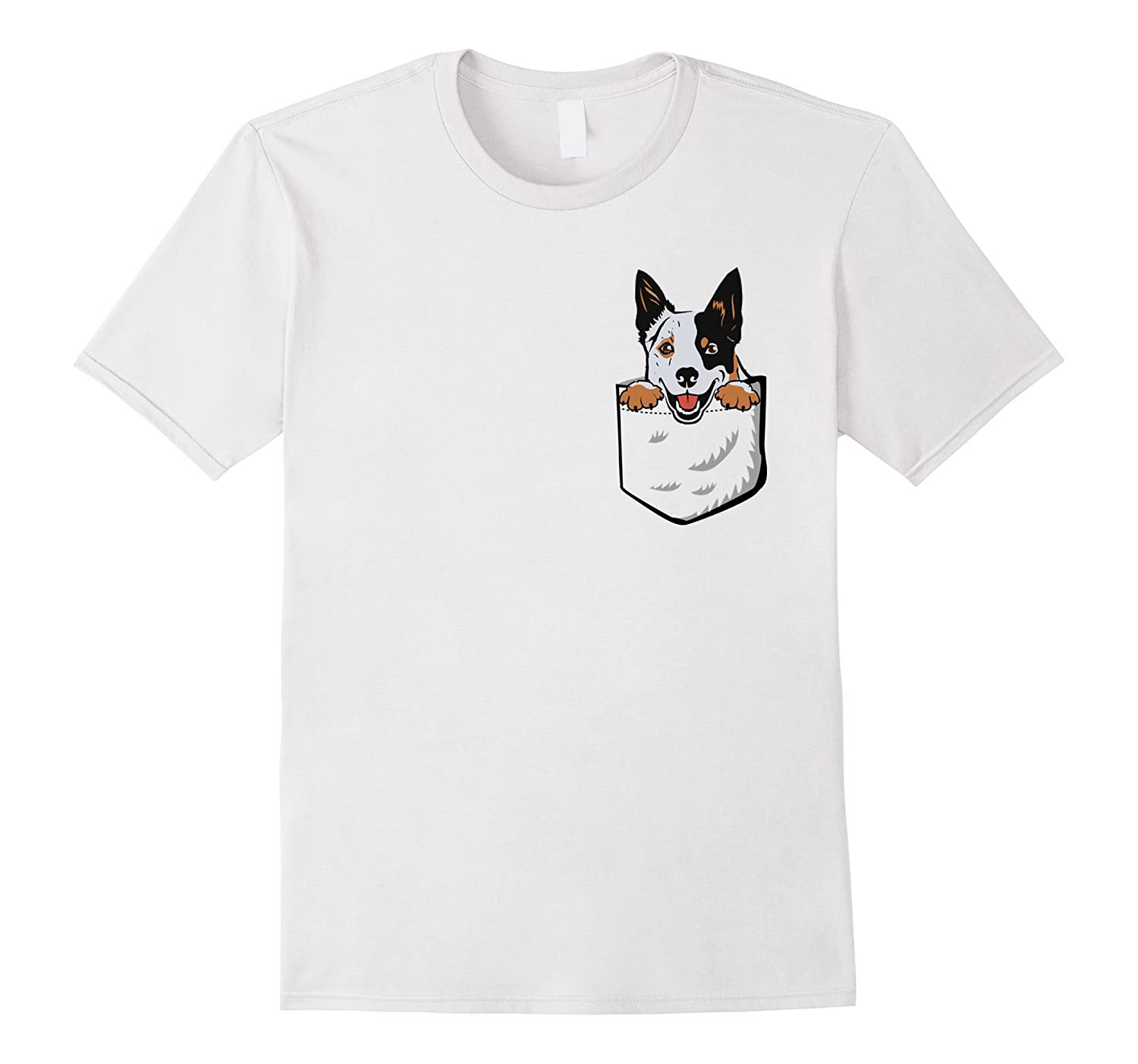 efa51221fbf Adorable Little Australian Cattle Dog In The Pocket T shirt-Colonhue