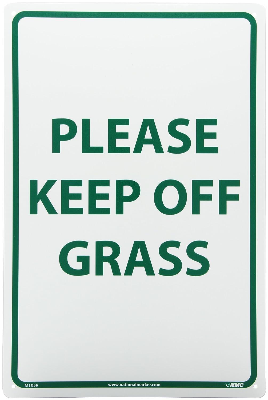 Legend PLEASE KEEP OFF GRASS Rigid Plastic White On Green 12 Length x 18 Height White on Green Legend PLEASE KEEP OFF GRASS 12 Length x 18 Height NMC M112R Security Sign