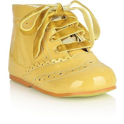 5be4fe56b6f3f Amazon.com: Girls Bridesmaids Party Shoes Patent Shoes Infant Sizes ...