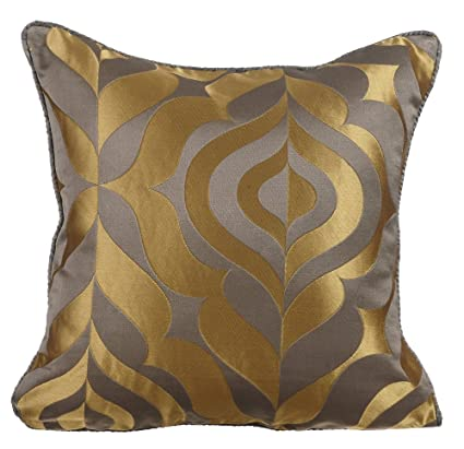Amazoncom The Homecentric Designer Gold Pillows Cover Damask
