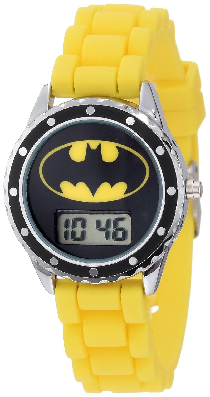 Batman Kids' BAT4048 Yellow Rubber Batman Logo Strap Casual Watch