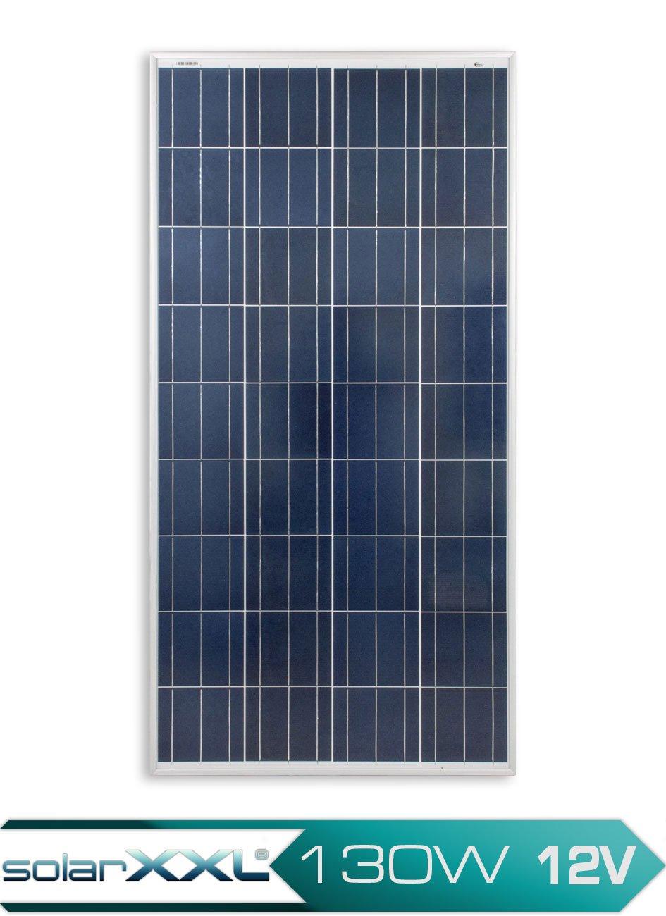 130 Watt Solarpanel 12V Polykristallin Solar Modul Photovoltaik Busbar Wohnmobil Camping solarXXL