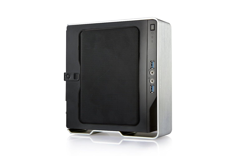 9b165606df Amazon | IN WIN PCケース 150W電源搭載 アルミシェルフロント採用 Mini-ITXケース Chopin-Silver (型番:IW-BQ696S)  | IN WIN Development | PCケース 通販