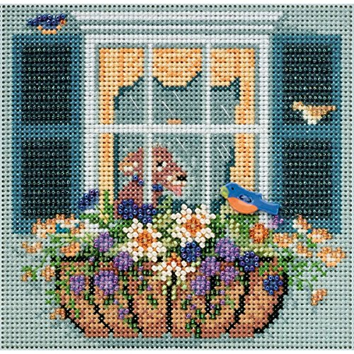 Monarch Butterfly Bead (Winged Monarch Butterfly Beaded Counted Cross Stitch Kit Mill Hill 2015 Buttons & Beads Spring MH145105)