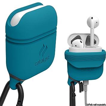 Catalyst Funda Apple Airpods Cascos Bluetooth inalámbricos Auriculares iPhone con mosqueton Silicon Airpods Case: Amazon.es: Electrónica