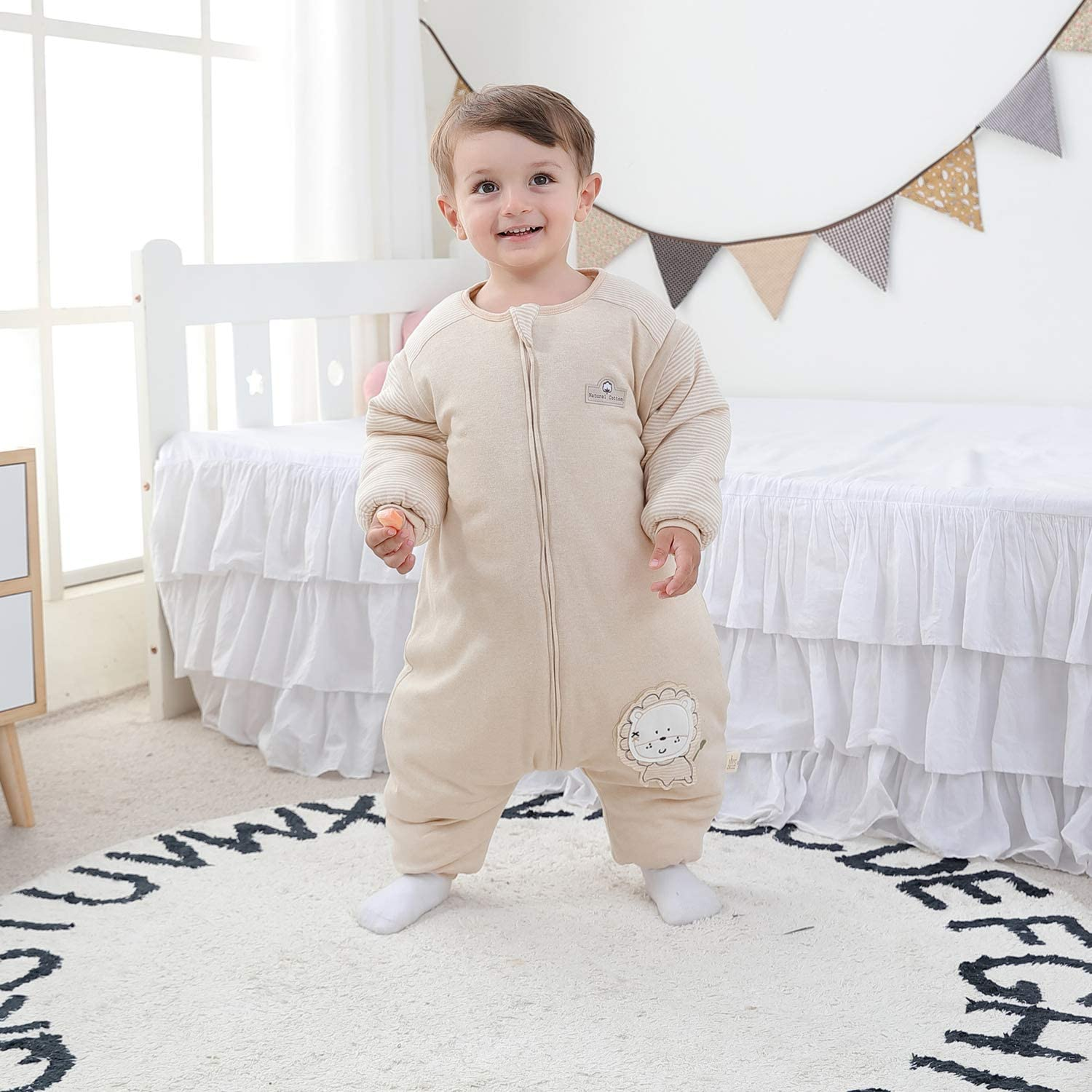 Bear,80 Baby Height 31-35 inches Mosebears Baby Winter Sleeping Bag with Legs Baby Sleep Sack for Toddler Thicken 2.5 TOG