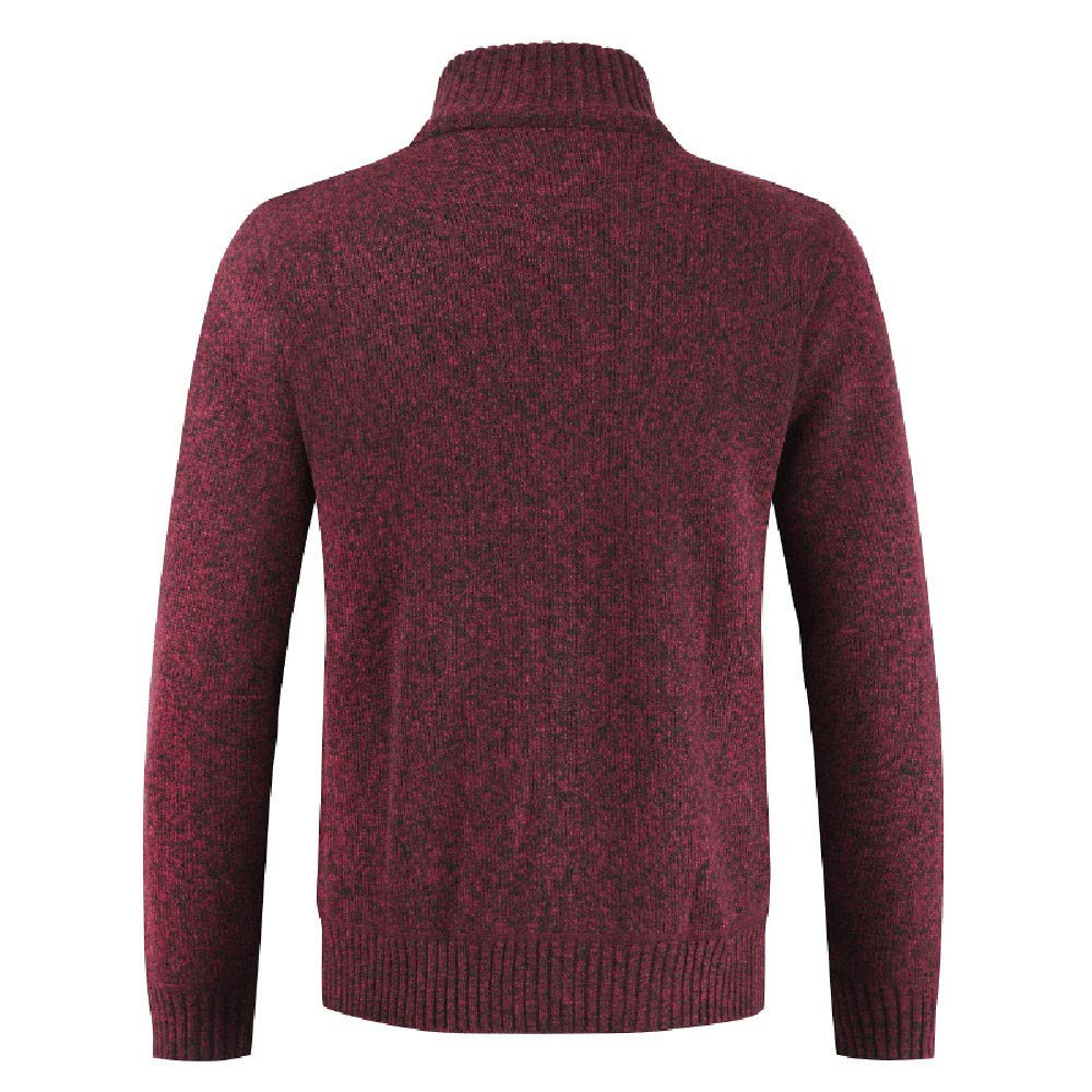 Mens Coats CieKen Mens Casual Stand Collar Cable Knitted Button Down Cardigan Sweater