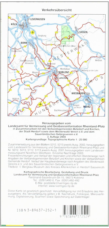 Westerwald Karte.Topographische Karten Rheinland Pfalz Wandern Im Nordlichen
