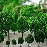 Hipatoo 32 Pcs Mixed Model Trees Fake Trees