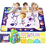 "Smarkids Aqua Magic Doodle Mat 28"" x 40"" Large Mess Free Coloring Water Drawing Mat Painting Writing Doodle Board Toy Educati"