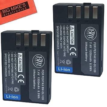 Bm Premium D-Li109 Batería para Pentax PK, K-R, K-S1, K-S2, Pentax ...