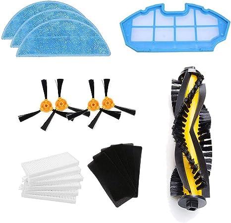 Zealing Kit de Accesorios de Limpieza para Robots aspiradores Conga Excellence 990:cepillos Laterales,Cepillo Central,Filtro EPA,Filtro Malla,Cepillo de Limpieza: Amazon.es: Hogar