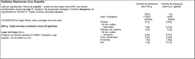 Galleta Marinera Bio de Harina de Espelta y Aceite de Oliva Extra ...
