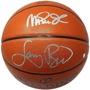 Magic Johnson and Larry Bird Dual Signed NBA I O Basketball at ... 94a318318