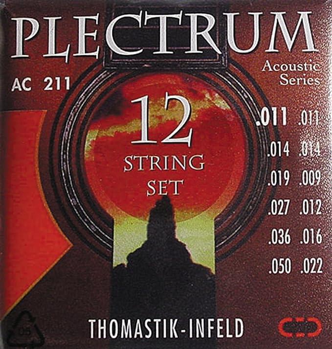 Thomastik-Infeld AC211 Acoustic Guitar Strings: Plectrum Series 12 String  Set E, E, D, D, G, G, D, D, A, A, E, E