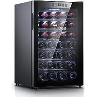 TOOCA 28 Bottle Wine Cooler/fridge Mini Refrigerator for Red Wine Semiconductor Quiet Double Glass Door Touch Screen…