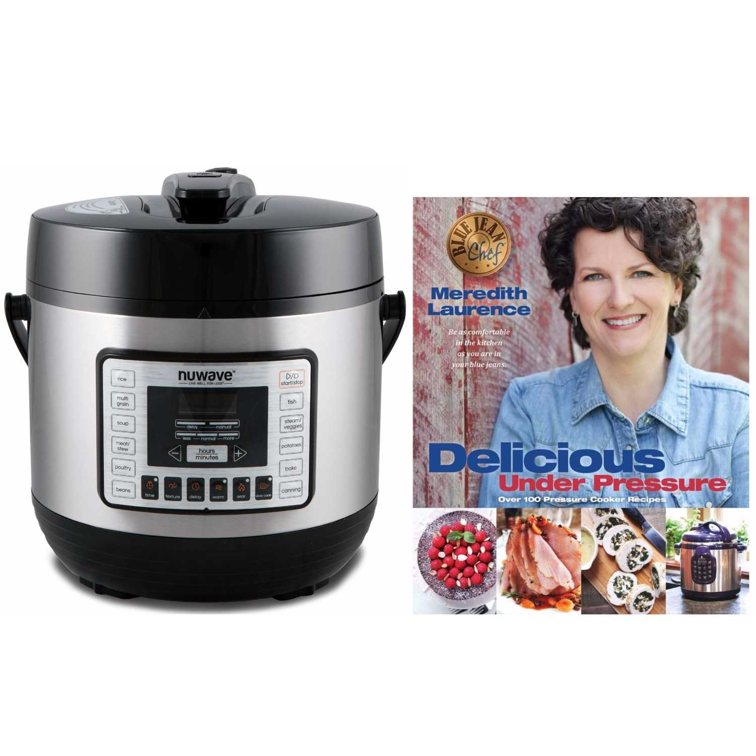 Nuwave 6 qt. Electric Pressure Cooker with'' Delicious Under Pressure'' Cookbook