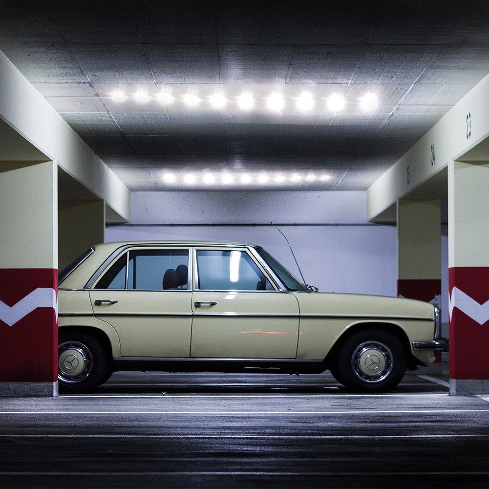 Lianqi 12V 10x4 LED Auto Luz interior Cúpula de techo Luz 5050 40SMD Panel Kit Luz blanca, para RV, Van, Camper Truck, Garaje, Vehículo todo terreno, Barco, ...