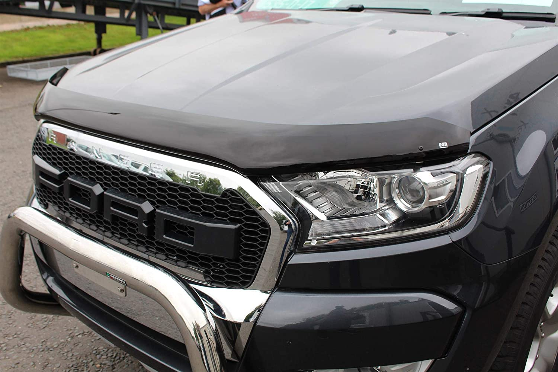 Dark Smoke Bug Shield Ford Ranger T6 2016 on Bonnet Guard Protector