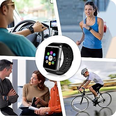 Fantime Relojes Inteligentes Smartwatch Bluetooth smartwatches Relojes de pulsera Soporte Llamada Mensaje Podómetro/Pantalla Táctil ...