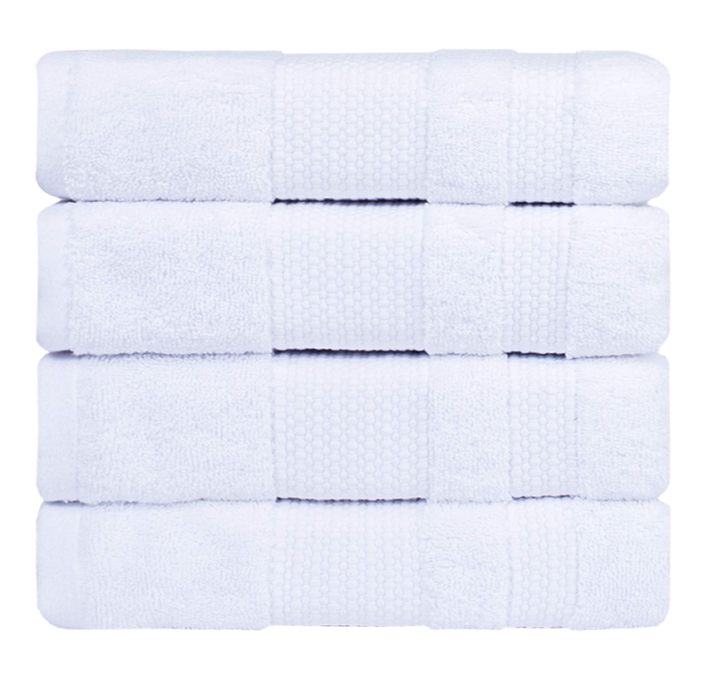 PAMCOTTON Bath Towel Luxury Hotel & Spa Ultra Soft & Absorbent Premium Quality 4 piece of Eco Friendly Bath Towel Set 600 GSM 27x54 inch WHITE