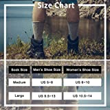 Time May Tell Mens Merino Wool Hiking Cushion Socks (2Light Grey,2Brown(4 pairs), US Size