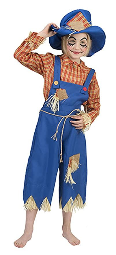 erdbeerclown de niños Halloween Carnaval Completo Disfraz de espantapájaros, niña & Joven, 110 –