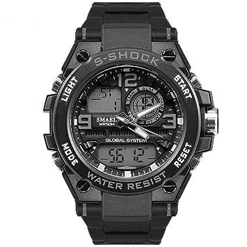 Blisfille Reloj con Esfera Grande Reloj de Noche Reloj Acero y Oro Reloj Digital Fitness Relojes Digitales Hombre: Amazon.es: Deportes y aire libre