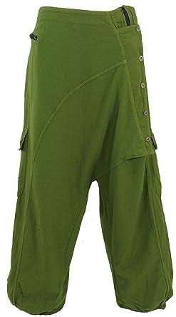Guru-Shop Pluderhose, Haremshose Kathmandu - Olivgrün, Damen, Baumwolle,  Pluderhosen, Aladinhosen Alternative Bekleidung  Amazon.de  Bekleidung 357569615b