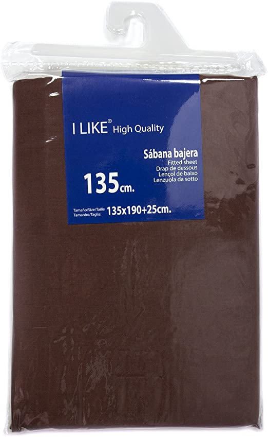 I LIKE® Sabana Bajera Ajustable Chocolate 100% ALGODÓN Cama 135 ...