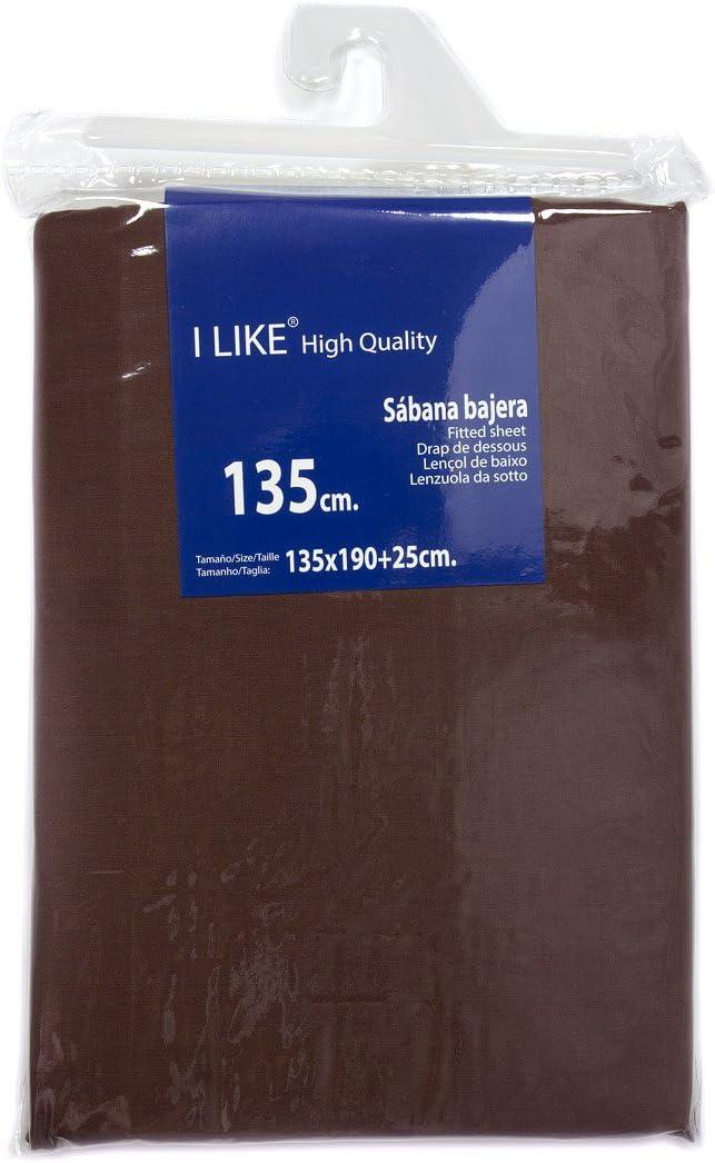 I LIKE® Sabana Bajera Ajustable Chocolate 100% ALGODÓN Cama 135 ...