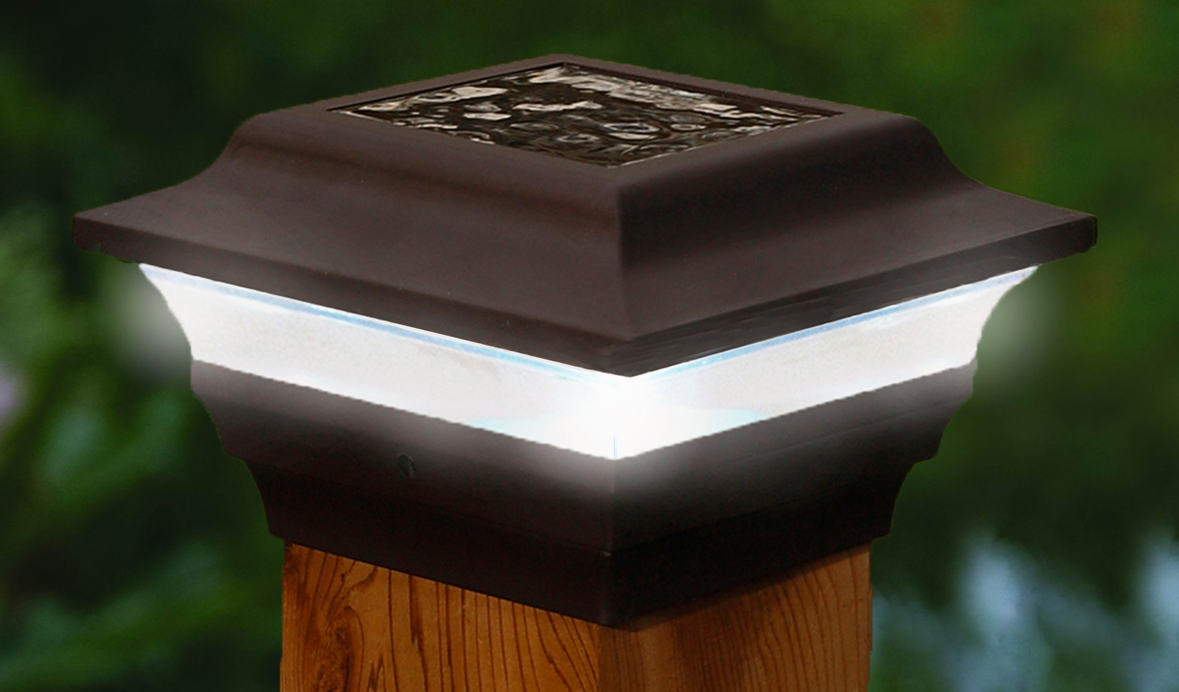 Imperial Solar Post Cap Light, Classy Caps SL211R, LED Deck Light, 3.5'' or 4'' Post, Bronze by Classy Caps