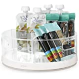 YouCopia Crazy Susan Cabinet Turntable Organizer Susan with Bins One Size White