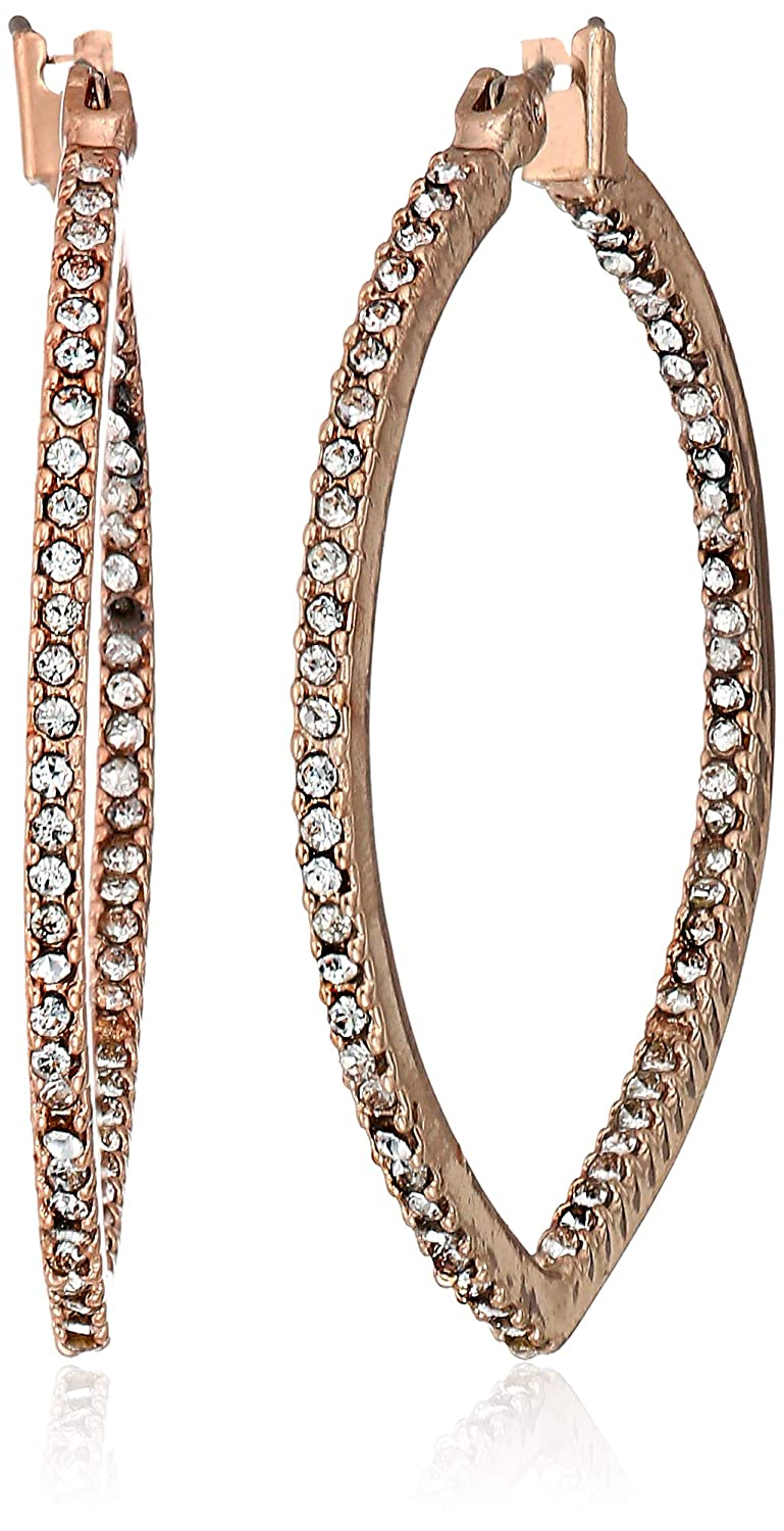 153162664119a Amazon.com: Anne Klein Women's Rose Gold Tone Crystal Chandelier ...