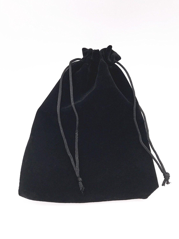 Drawstring Bags Lady Seven 6pcs 7 X 5 Black Velvet Cloth Jewelry Pouches
