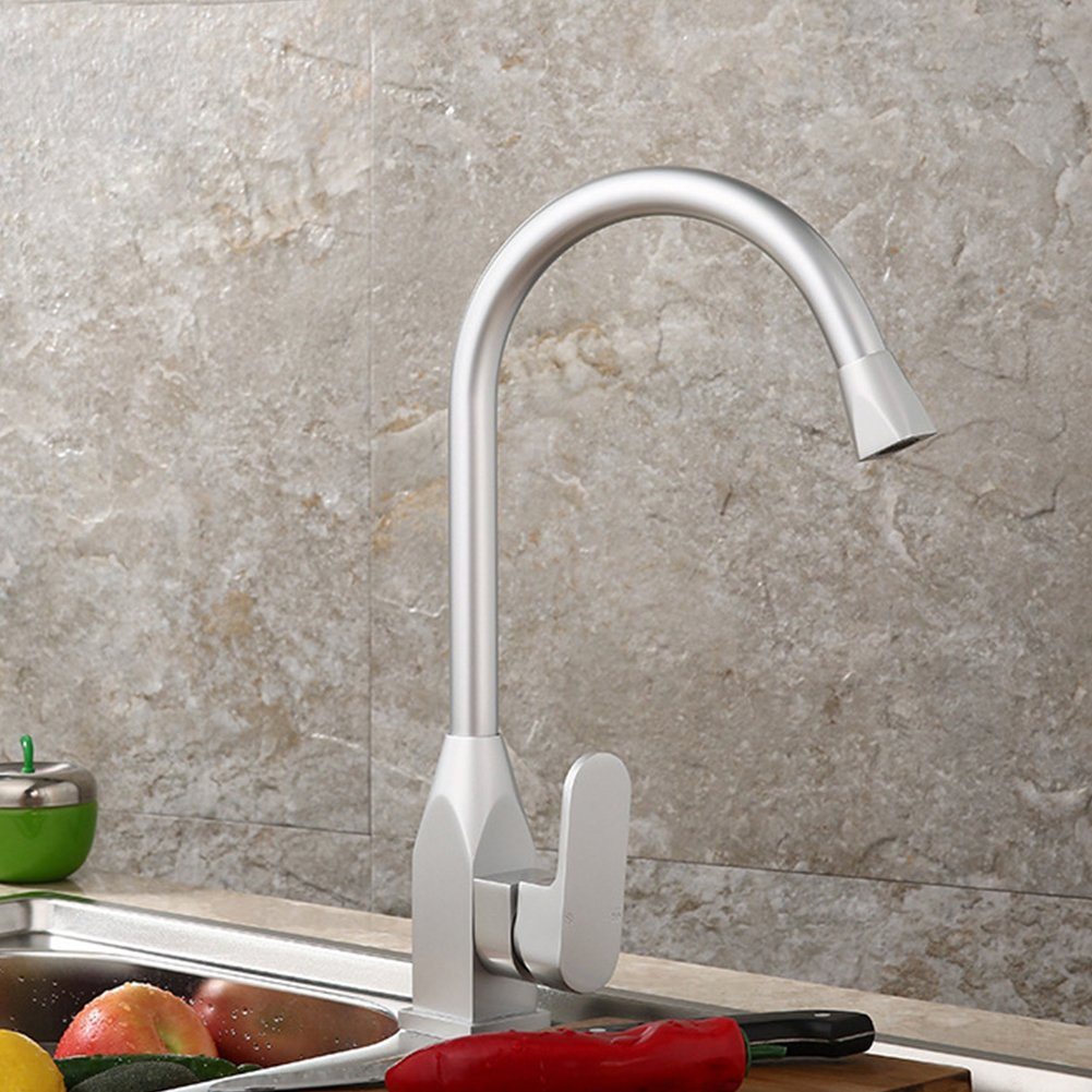 A Space Aluminum Kitchen Faucet Bathroom Basin Hot And Cold Water Faucet,B