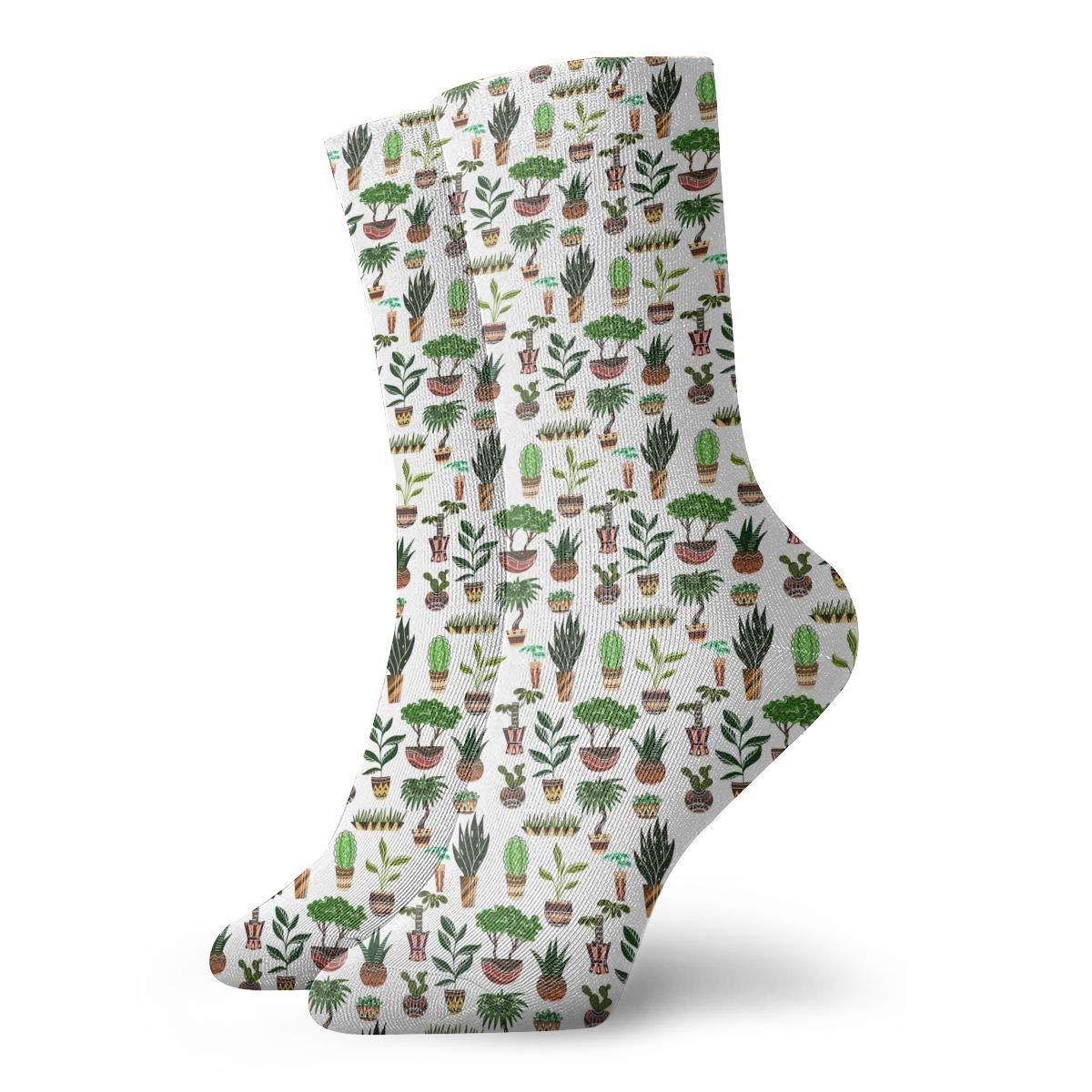 Unisex Texture Cartoon Home Flowers Athletic Quarter Ankle Print Breathable Hiking Running Socks