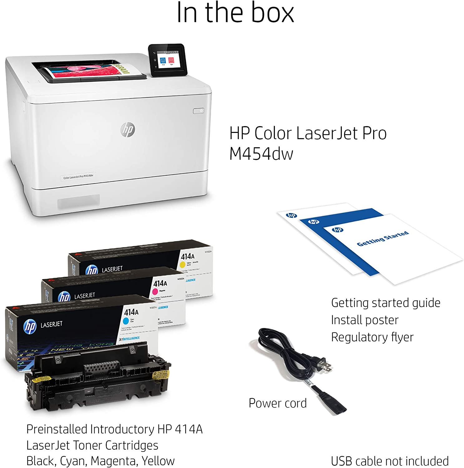 Amazon.com: Impresora HP Color Laserjet Pro M454dn: Electronics