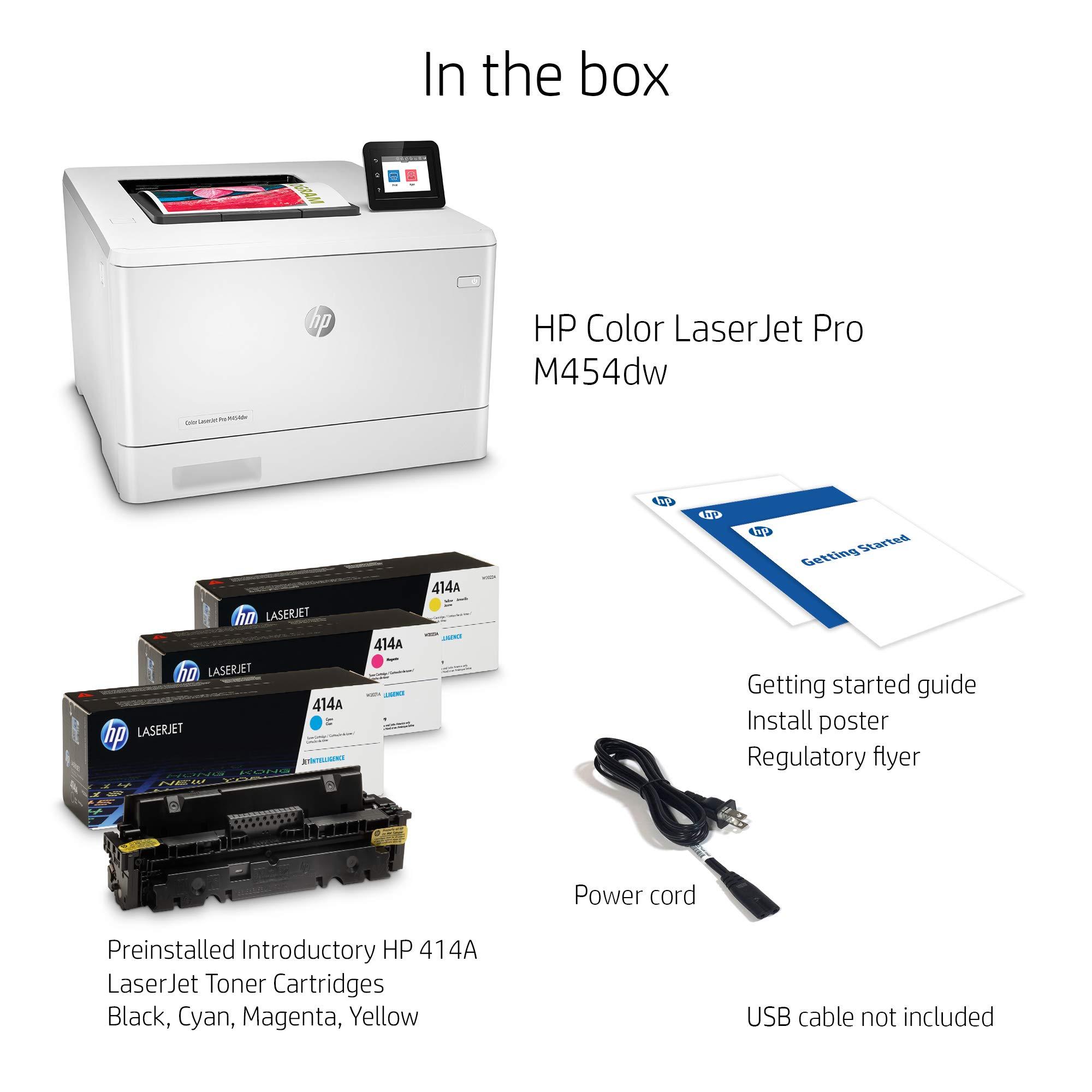 HP Color LaserJet Pro M454dw Printer (W1Y45A) by HP (Image #3)