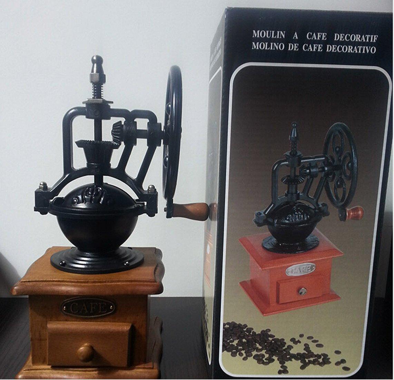 Mundial King Antique - granos de café molinillo para molinillo de café Starbucks, Hand-crank molinillo de café máquina de café: Amazon.es: Hogar