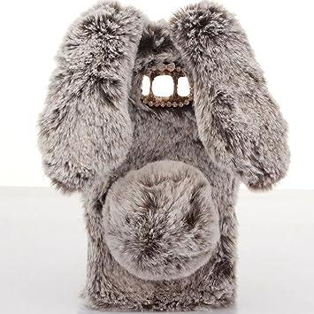 P9 Lite 2017 Cover, SevenPanda Rabbit Funda peluche cubierta protectora hecha a mano Diseño elegante