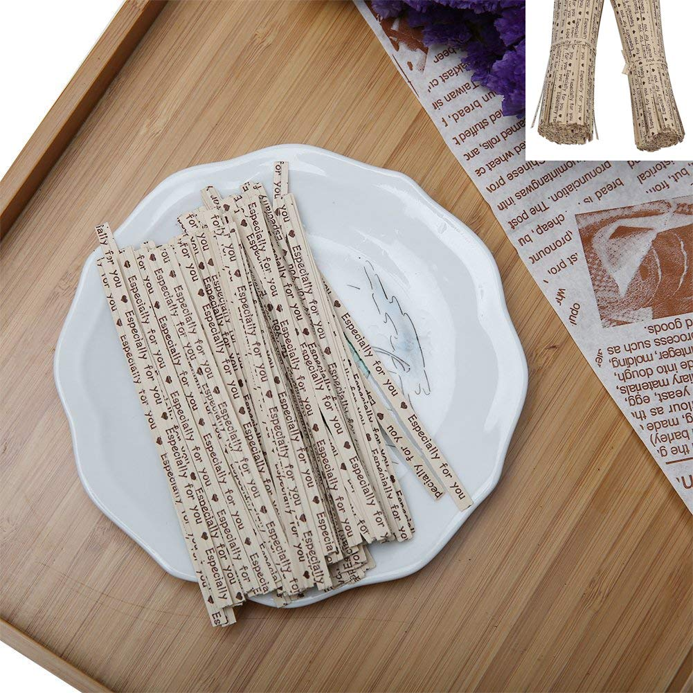 Candy XelparucTS 1000 Pack 4 Inch Kraft Paper Twist Ties Favor Bag Wrapper Tie for Bakery