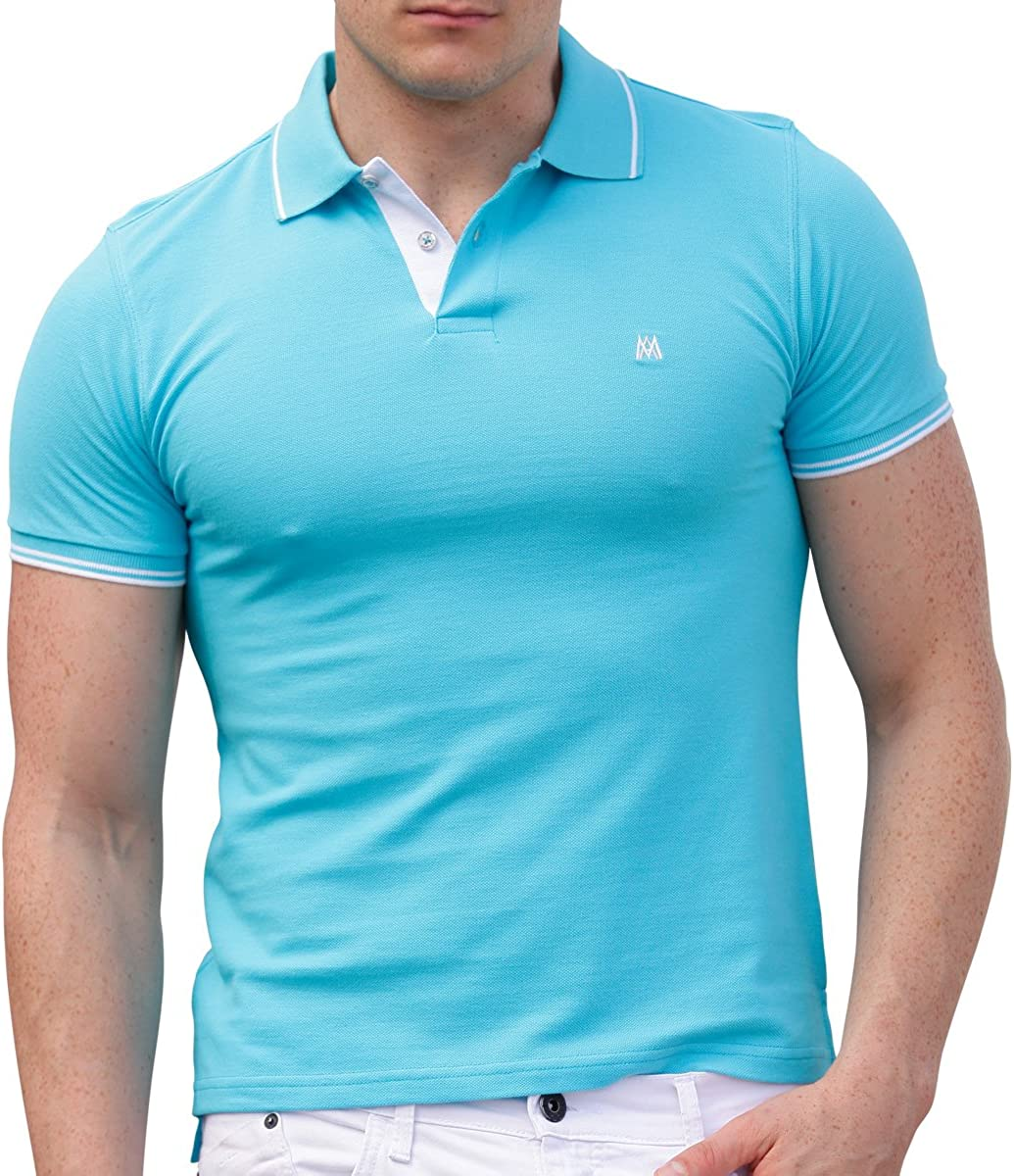 AsdruMark Camiseta Polo Shirt para Hombres, Turquesa: Amazon.es ...